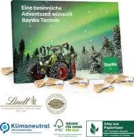 Tisch-Adventskalender Lindt Select Edition Organic, Klimaneutral, FSC®, Inlay aus Papierfaser