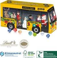 3D Adventskalender Lindt Bus, Klimaneutral, FSC®, Inlay kompostierbar
