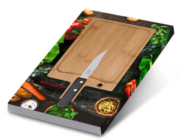 Geschenkset STEAK cut and chill steakmesser und Schneidebrett