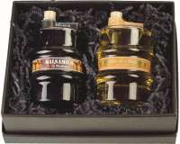 Präsentset Essig- und Ölfass, Glasfässchen