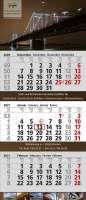 3 Monats-Wandkalender Standard 2, 3-sprachig