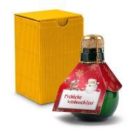 Kleinste Sektflasche der Welt! Fröhliche Weihnachten - Inklusive Geschenkkarton, 125 ml