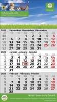 3 Monats-Wandkalender Standard 2 Plus, 3-sprachig