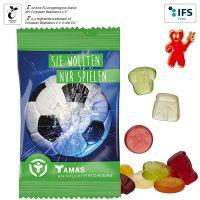 Fruchtgummi-Standardformen 15 g im kompostierbaren Tütchen