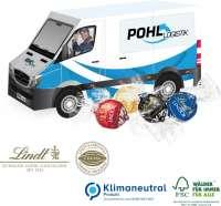 3D Präsent Transporter mit Lindt Lindor Pralinés, Klimaneutral, FSC®