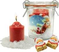 Gläschen Weihnachtslicht, 1-4 c Digitaldruck inklusive