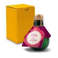 Kleinste Sektflasche der Welt! Alles Liebe - Inklusive Geschenkkarton, 125 ml