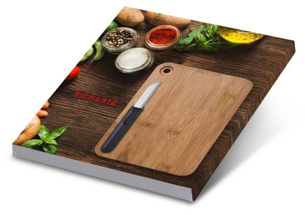 Geschenkset PICCOLO cut on wood Allzweckmesser und Schneidebrett
