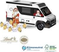 3D Präsent Camper mit Lindt Santa & Vollmilchkugeln, Klimaneutral, FSC®