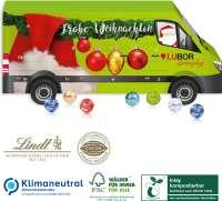 3D Adventskalender Lindt Transporter, Klimaneutral, FSC®, Inlay kompostierbar