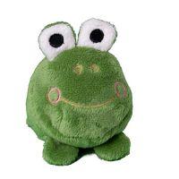Schmoozies® Frosch, das Kugeltier, Unterseite aus Mikrofaser ist vielseitig einsetzbar.