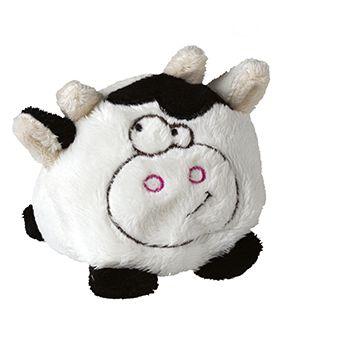 Schmoozies® Kuh, das Kugeltier, Unterseite aus Mikrofaser ist vielseitig einsetzbar.