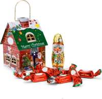 Geschenkartikel - Präsentartikel: Schokoladenhäuschen Merry Christmas