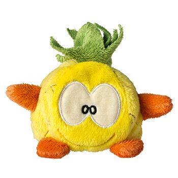 Schmoozies® Ananas, das Kugeltier, Unterseite aus Mikrofaser ist vielseitig einsetzbar.