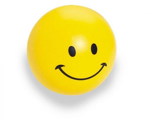 """SQUEEZIES® Ball, lachendes Gesicht, zum Stressabbau """"knautschen"""", nimmt Ursprungsform wieder ein."""