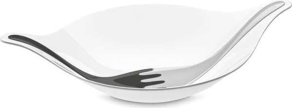 Salatschale mit Besteck 3l